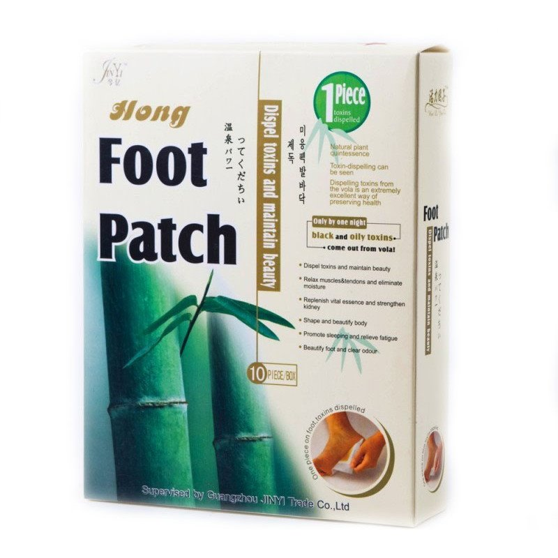 Foot Patch пластыри на стопы для выведения токсинов и шлаков, коробка 10 пластырей. Цена за 1 коробку