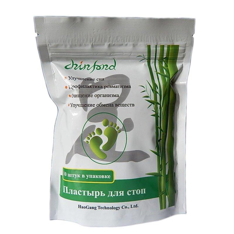 Пластыри Хао Ган Hao Gang на стопы, для выведения токсинов, упаковка 10 пластин.