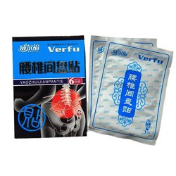 Пластырь Verfu при болях в пояснице, упаковка 6 пластин. Цена за упаковку.