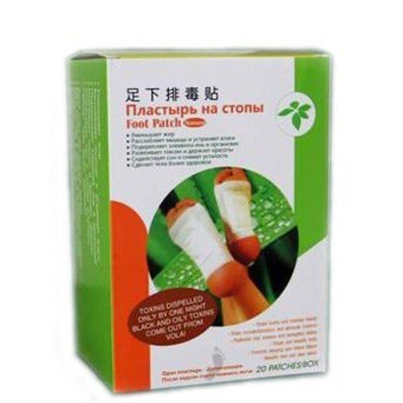 Пластырь для стоп Foot Patch для выведения токсинов, производства Bang De Li, коробка 20 шт