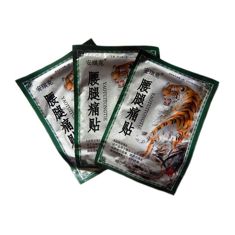 Тигровый пластырь Yao Tui Tong Tie, 1 сашет 6 пластин.