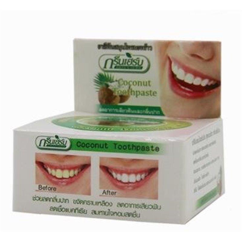 """Тайская травяная зубная паста """"Зеленые травы""""."""