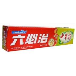 """Зубная паста """"Любичжи"""" Lubizhi с тибетскими травами (универсальная), туба 105 г."""